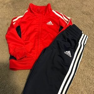 Adidas track jacket and pants size 12months!
